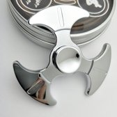 Fidget spinner metaal zilver aluminium