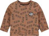 Noppies Jongens Longsleeve Sweater met all over print Pascoe - Washed Wood - Maat 62