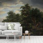 Fotobehang vinyl - Bosgezicht - Schilderij van Jacob van Ruisdael breedte 325 cm x hoogte 270 cm - Foto print op behang (in 7 formaten beschikbaar)