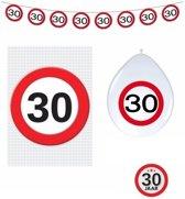 30 jaar verkeersbord versiering basis set - 30ste verjaardag decoratie