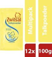Zwitsal Talkpoeder Navulling - 12 x 100 gram