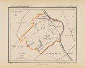 Historische kaart, plattegrond van gemeente Valkenburg in Zuid Holland uit 1867 door Kuyper van Kaartcadeau.com
