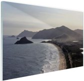 FotoCadeau.nl - Rio de Janeiro strand Glas 30x20 cm - Foto print op Glas (Plexiglas wanddecoratie)