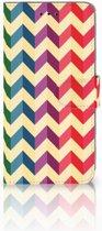 Samsung Galaxy A6 Plus 2018 Uniek Boekhoesje Zigzag Color