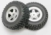 Wheel & tire glued, Satin Chrome (2)
