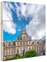 Stadhuis Brussel Hout 60x80 cm - Foto print op Hout (Wanddecoratie)