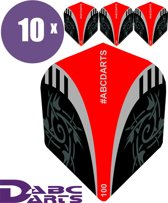 ABC Darts Flights - Extra Stevig - Tribal Rood - 10 sets (30 stuks Dart Flights)