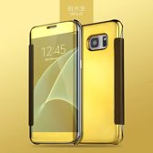 Clear View Cover voor Samsung Galaxy S7 Edge – Goud