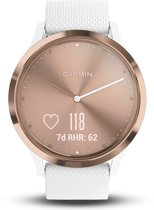 Garmin Vivomove HR - Hybride Smartwatch - Roségoud/wit - Small/medium
