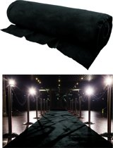 Zwarte loper 1m breed x 30m lang op rol
