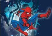 Marvel Vloerkleed Spider-man 133 X 95 Cm Blauw/rood