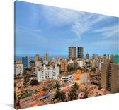 Overzicht van de stad Lima Canvas 90x60 cm - Foto print op Canvas schilderij (Wanddecoratie woonkamer / slaapkamer)