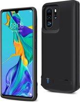 Lunso - Battery Power Case hoes - Huawei P30 Pro - 5000 mAh - Zwart