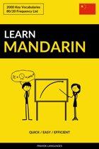 Learn Mandarin: Quick / Easy / Efficient: 2000 Key Vocabularies