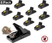 Muizenval - 8 stuks - Rattenval | extra sterke veer | muizenvallen herbruikbaar | Professioneel | Veilig in gebruik | Duurzaam | Hygiënisch | Snelle dood | Muizenvallen set