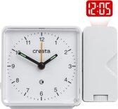 Cresta - Cresta Projectiewekker analoog PRA310 Wit