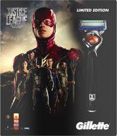 Gillette Fusion ProGlide - Justice League Giftpack (Scheermes + 2 Scheermesjes + Scheergel 75 ml) - Scheermes