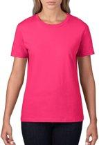 Basic ronde hals t-shirt fuchsia roze voor dames - Casual shirts - Dameskleding t-shirt roze S (36/48)