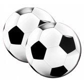 Ronde voetbal servetten 20 stuks