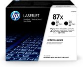 HP 87X Toner Cartridge / Zwart / Dual Pack