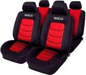 Stoelhoezenset Sparco Zwart / Rood (11-delig) (ook Geschikt Voor Side-Airbags)
