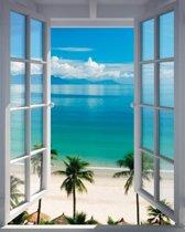 Strand Uitzicht - Poster 40 x 50 cm