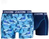Zaccini - 2-Pack Boxershorts - Surfing - Uni - Blauw