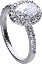 Diamonfire - Zilveren ring met steen Maat 19.5- Bridal - Zirkonia - Entourage - Vintage