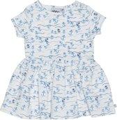 Ebbe - zomer jurk - floating anchors - blauw