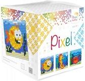 Pixel kubus waterdieren