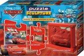 Puzzle + Sculpture (mittel) - Cars