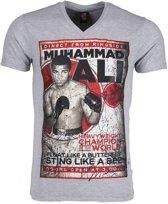 Mascherano T-shirt - Muhammad Ali - Grijs - Maat: L