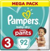 Pampers Baby-Dry Pants Luierbroekjes - Maat 3 (6-11 kg) - 92 Stuks - Maandbox