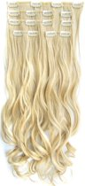 Clip in hairextensions 7 set wavy blond - M24/613