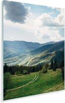 Wolken boven het nationaal park Karpaten in Oekraïne Plexiglas 20x30 cm - klein - Foto print op Glas (Plexiglas wanddecoratie)