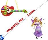 (Combi 2 pack Speelgoed) Speelgoed Gitaar diverse instrumenten + Dancing Butterfly princess  -incl. batterijen