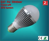 E27 lamp 5watt Warm-wit Dimbaar