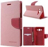 Samsung galaxy J5 roze agenda wallet hoesje