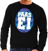 Paas sweater zwart met blauw ei voor heren 2XL