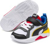 PUMA X Ray AC Inf Kinderen Sneakers - Puma White-Puma Black-Dark Shadow-Dandelion-High Risk Red - Maat 26
