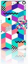 Sony Xperia XZ1 Boekhoesje Design Blocks Colorful
