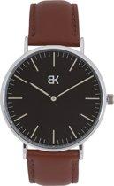 BK AMSTERDAM - Classic Black Spui Horloge