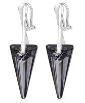 ARLIZI 1243 Oorclips Swarovski Kristal Spike - Dames - 925 Sterling Zilver - 4,5 cm - Zwart