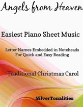 Angels from Heaven Easy Piano Sheet Music