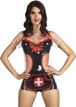3 stuks: Fotorealistisch shirt - Stoute Verpleegster - Small