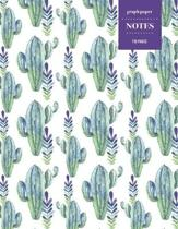 Graph Paper Notes 110 Pages: Cactus Notebook for Professionals and Students, Teachers, Architects, Scientists, Engineers, and Writers - Succulent L