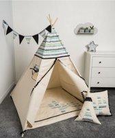 FUJL - Tipi Tent - Speeltent - Wigwam - kinder tipi -  Set Aztec 2 - Inclusief asseccoires