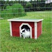 Trixie Domek dla gryzoni, 50 × 30 × 37 cm, czerwono/biały