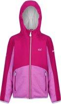 Regatta Bracknell Softshell  Outdoorjas - Maat 152 --CONVERTMeisjesKinderen - donker roze