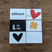 Huwelijkskaarten A6 - ansichtkaarten - wenskaarten - trouwen - bruiloft - set van 5
